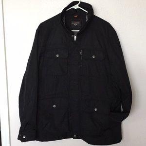 Men's Dockers Black Zip/Snap 5-Pocket Field Jacket